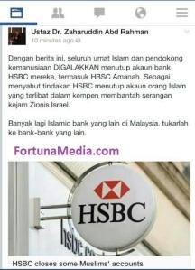 Ustaz Dr. Zaharuddin Gesa Umat Islam Tutup Akaun HSBC